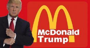 ترامپ و فست فود مک دونالد