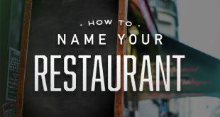 نامگذاری رستوران و کافه