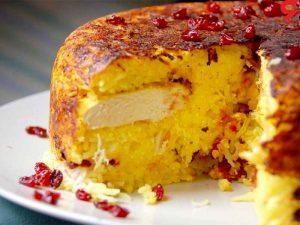 طرز تهیه ته چین مرغ خانگی، غذای خوشرنگ و جذاب پارسی