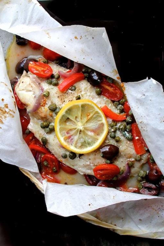 ترفندهای پخت ماهی ، استفاده از کاغذ پاپیلوت
