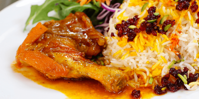طرز تهیه زرشک پلو با مرغ مجلسی دستورالعمل پخت یک غذای کلاسیک ایرانی فوق العاده