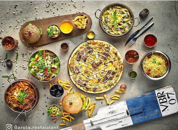 غذای رستوران بارولا