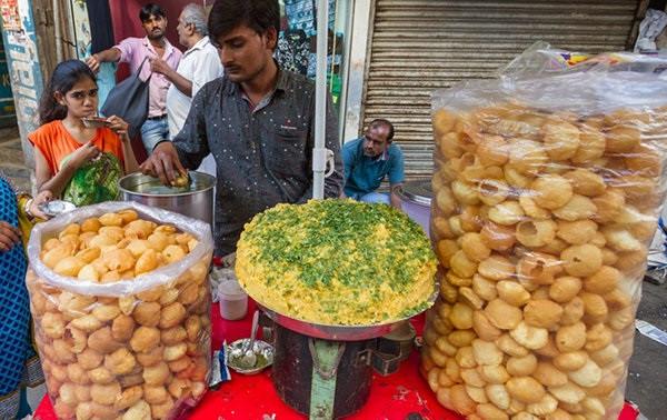 پانی پوری غذای هندی
