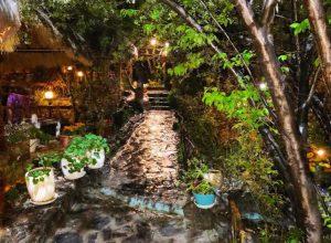 باغ رستوران شومینه