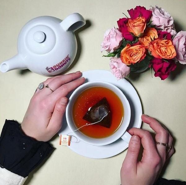 دونات برفی - چای دیکید